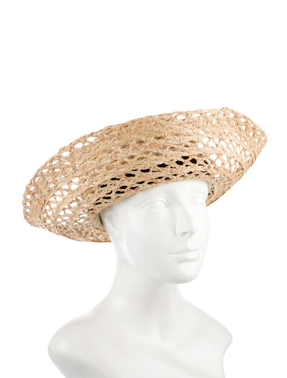 Tory Burch Wide Brim Straw Hat Tan - image 3