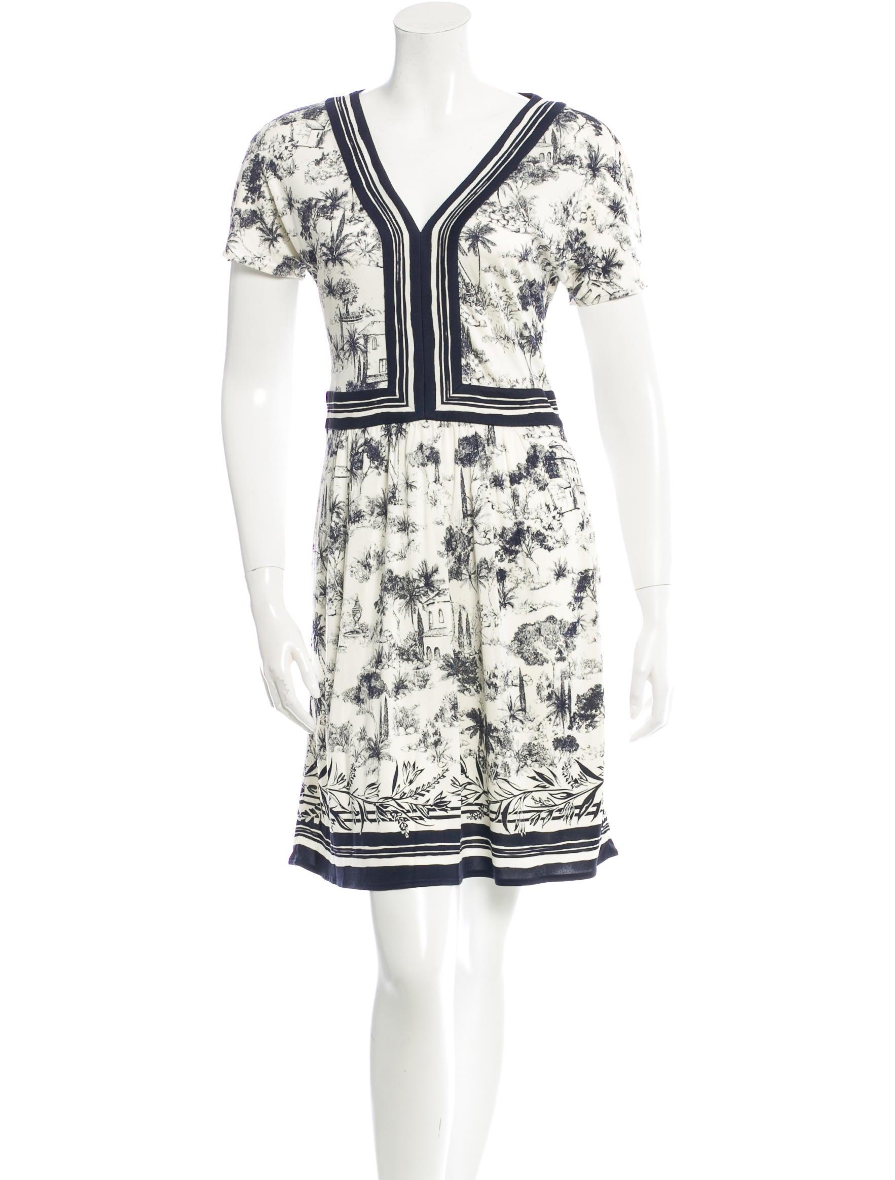 Tory Burch Toile Du Jouy Print Dress Clothing Wto53236