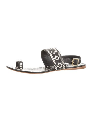 Woven Toe-Ring Sandals