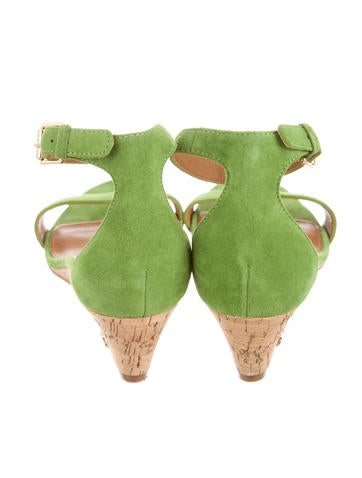 Suede Logo-Embellished Sandals