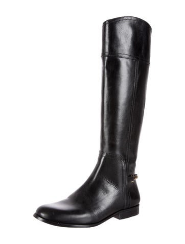 Leather Stirrup Boots