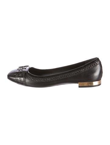 Square-Toe Leather Flats