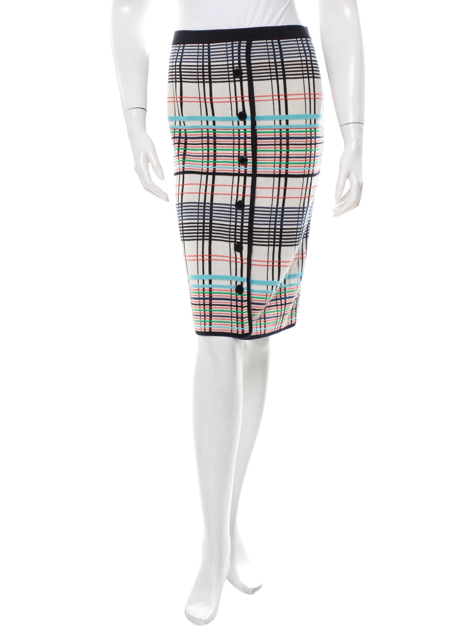 burch knee length plaid skirt clothing wto56603