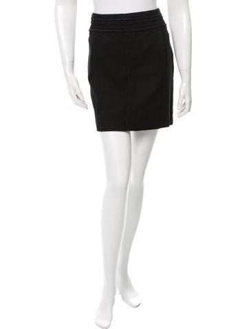 Tory Burch Textured Mini Skirt