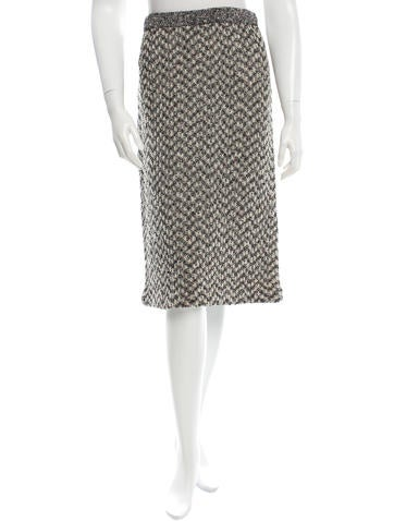 Tory Burch Knit Knee-Length Skirt None
