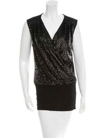 Tory Burch Sequin Embellished Top None