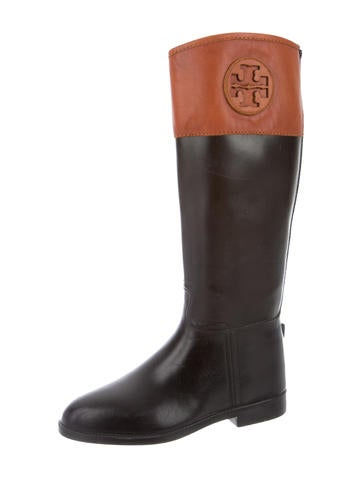 Leather-Accented Rain Boots