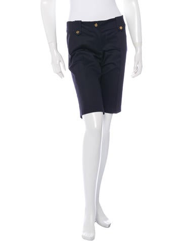 Tory Burch Mid-Rise Knee-Length Shorts None