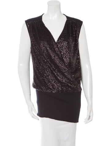 Tory Burch Embellished Sleeveless Top w/ Tags None