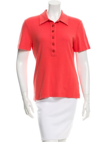 Tory Burch Short Sleeve Polo Top None