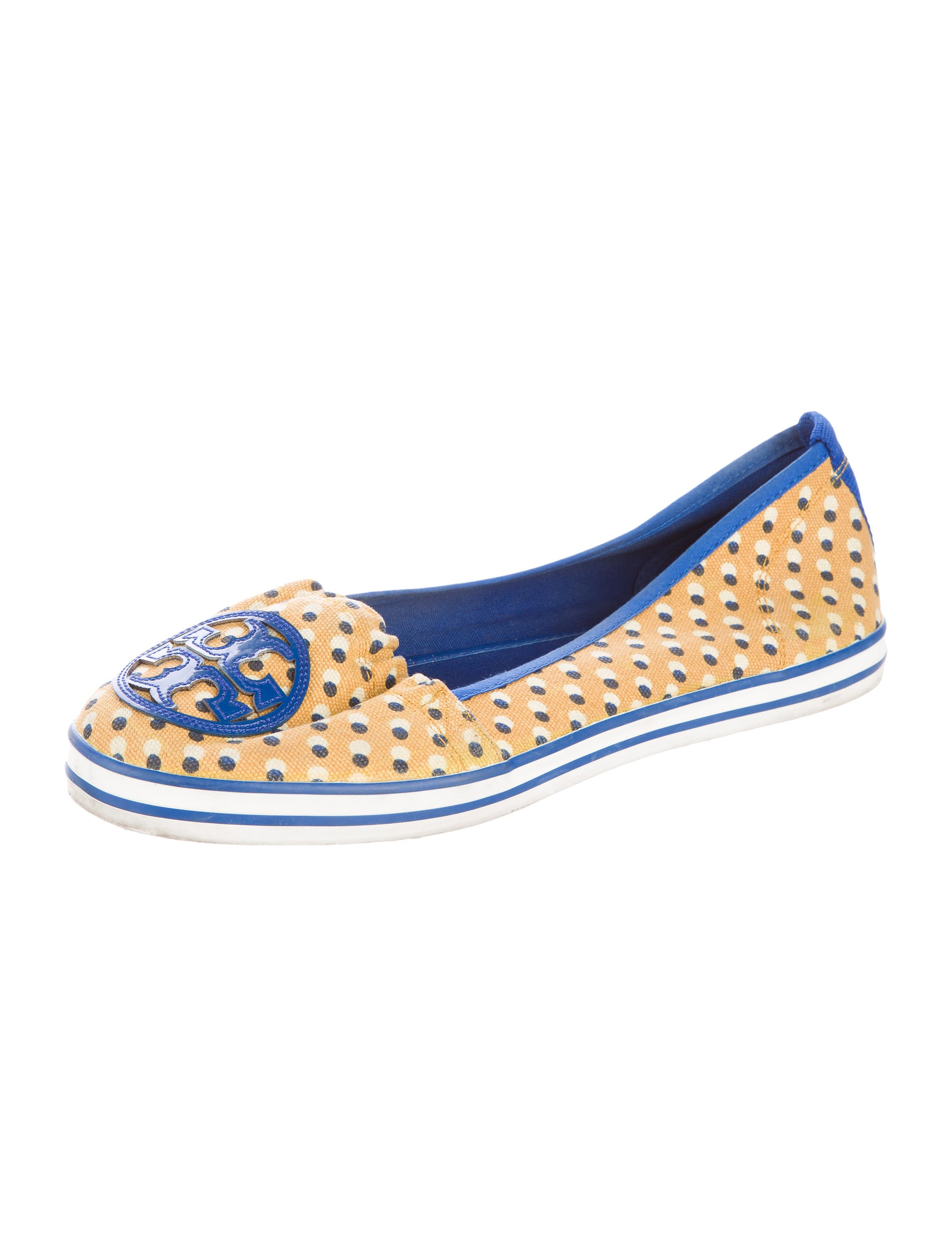 burch printed canvas flats shoes wto69680 the