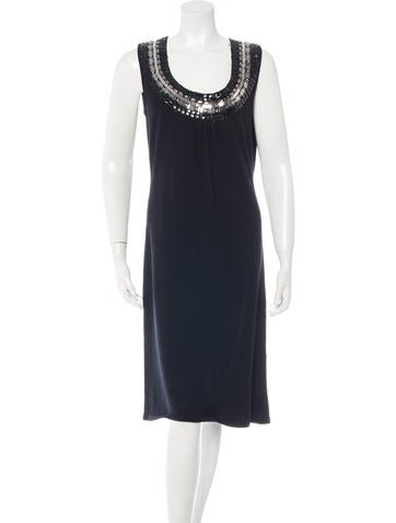 Tory Burch Embellished Wool Dress None