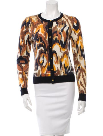 Tory Burch Cropped Wool Cardigan None