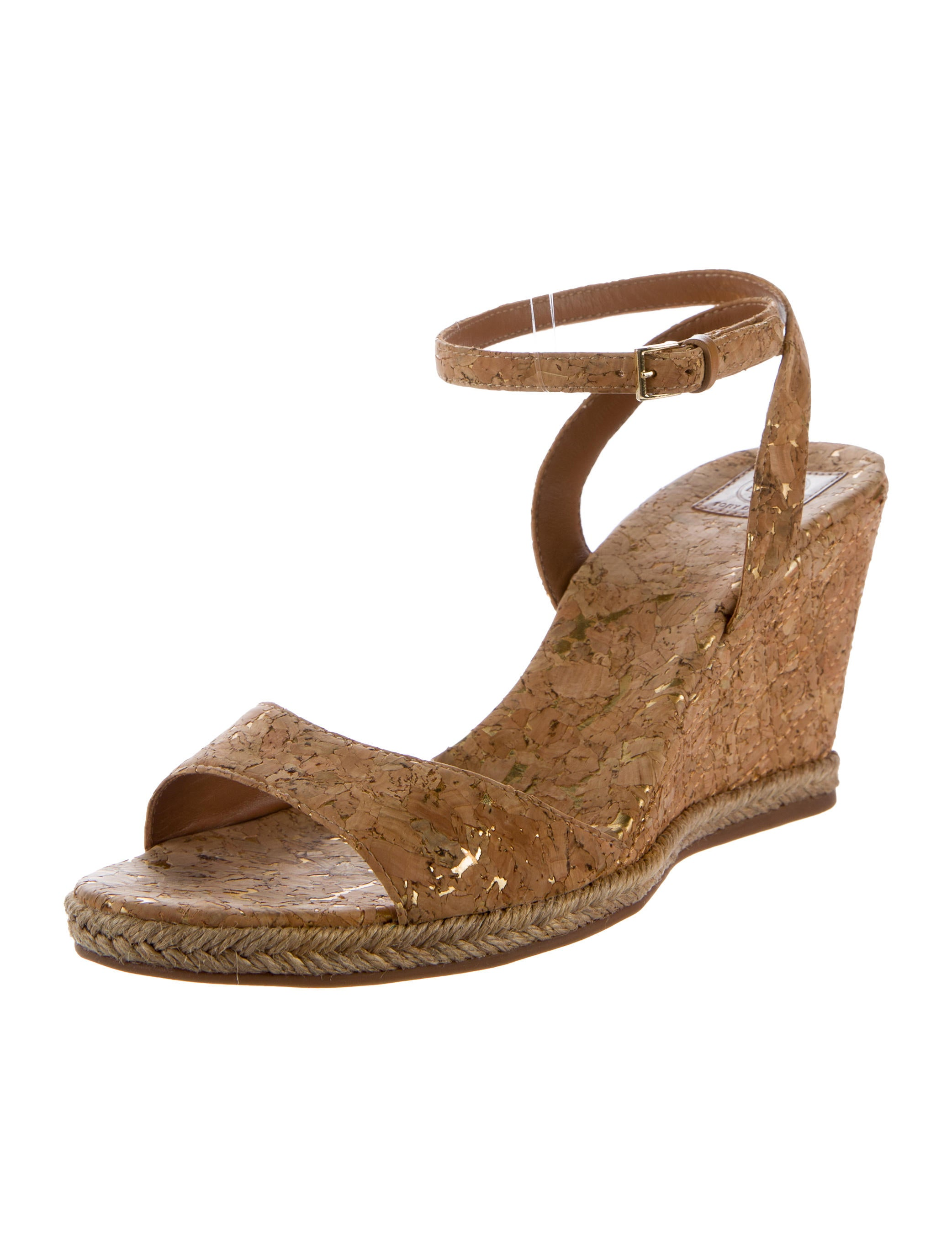Tory Burch Cork Wedge Sandals Shoes Wto71201 The