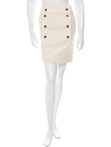 Tory Burch Tweed Wrap Skirt