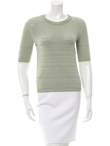 Tory Burch Short Sleeve Knit Top None