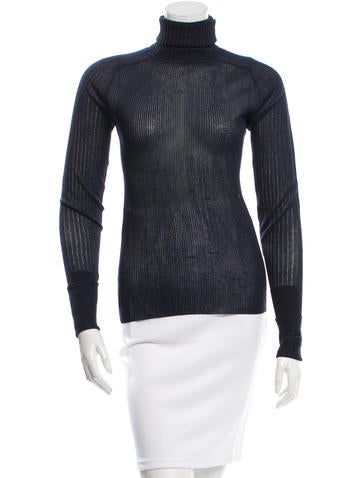 Tory Burch Rib Knit Turtleneck Top None