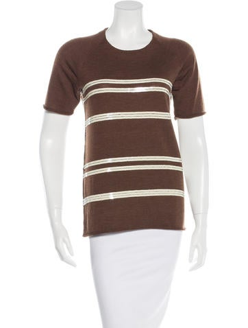 Tory Burch Wool Embellished Top None