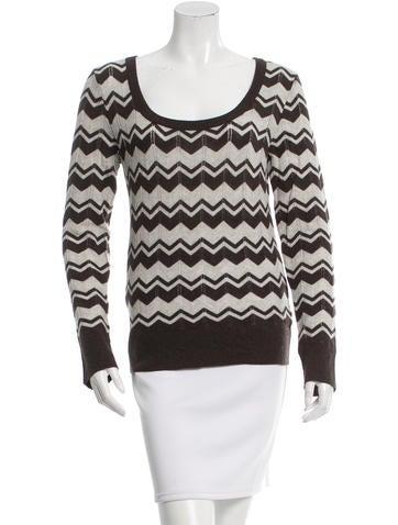 Tory Burch Pattern Knit Sweater None