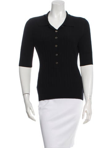 Tory Burch Rib Knit Wool Top None