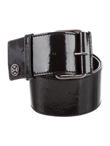Tory Burch Wide Patent Leather Belt