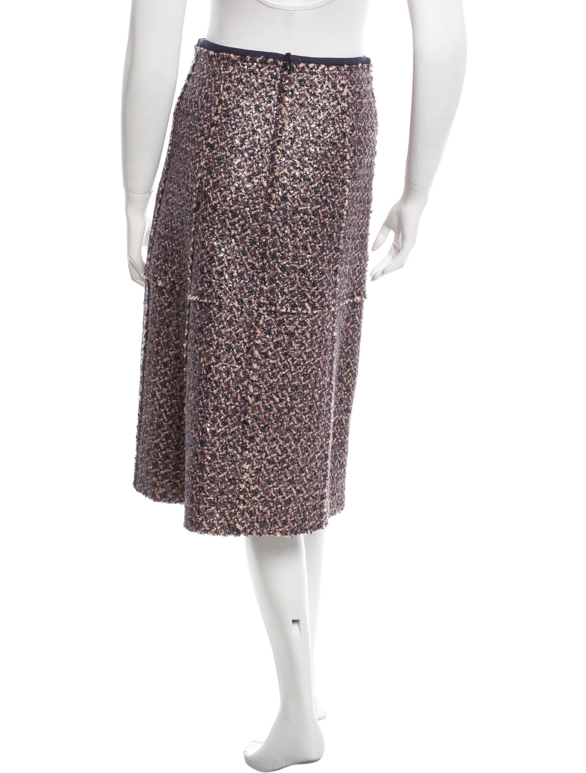 burch sequined knee length skirt clothing