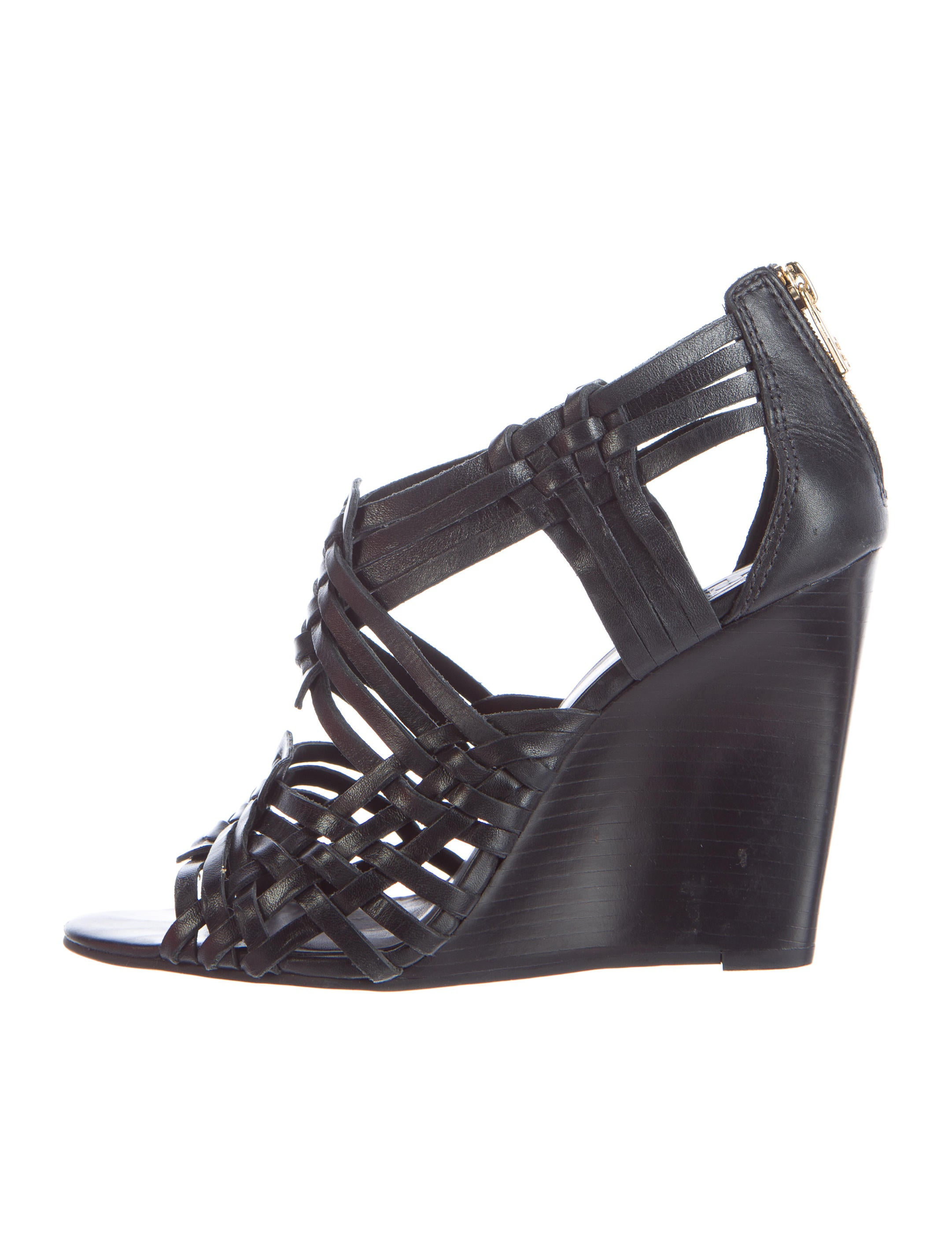 Tory Burch Tevray Huarache Wedge Sandal Shoes Wto74592