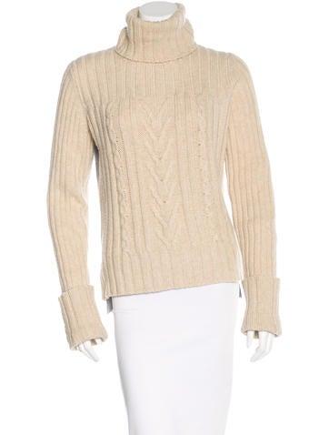 Tory Burch Wool-Blend Turtleneck Sweater None