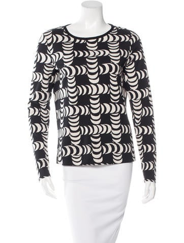 Tory Burch Abstract Print Long Sleeve Top w/ Tags None