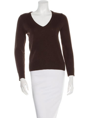 Tory Burch Cashmere Long Sleeve Top None