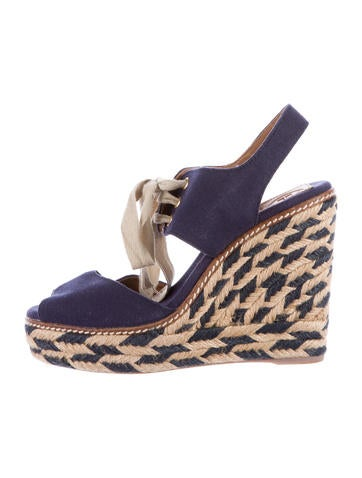 Tory Burch Linley Espadrille Wedge Sandals None