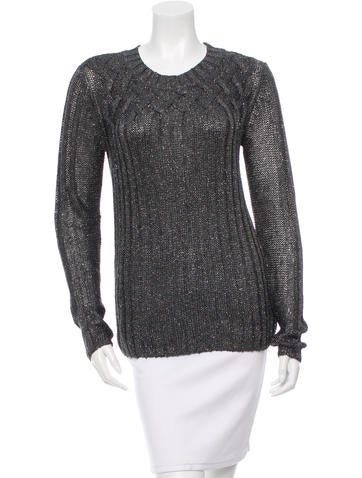 Tory Burch Metallic-Accented Knit Top None
