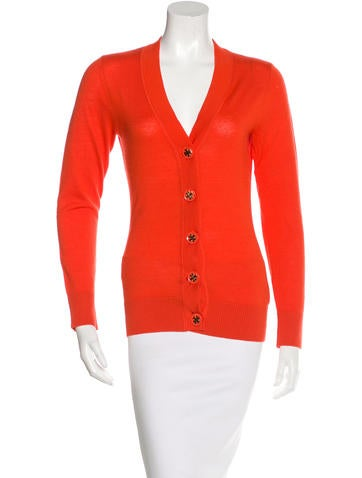 Tory Burch Wool Button Up Cardigan None