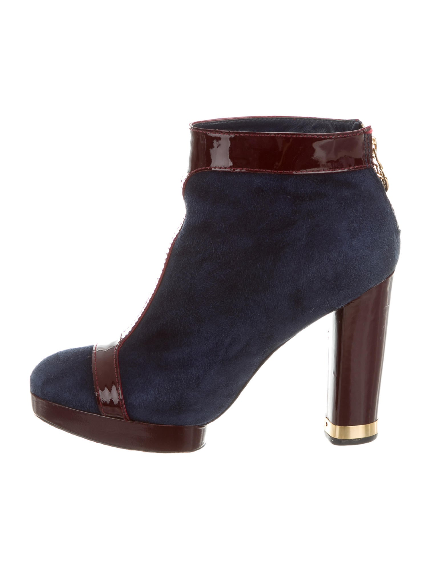 burch suede colorblock ankle boots shoes wto76391