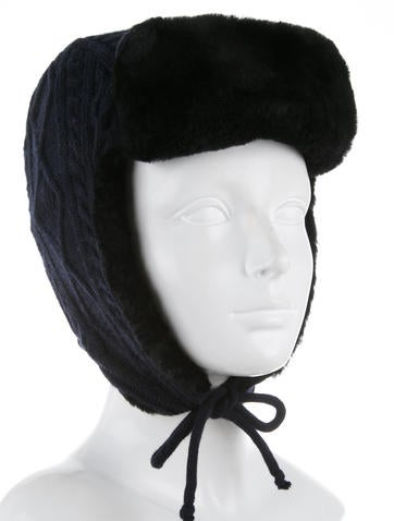 16d69dcfdab Tory Burch Cable Knit Trapper Hat - Accessories - WTO76455