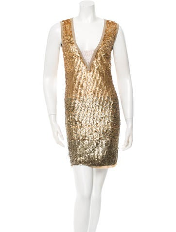 Tory Burch Ombré Sequin Embellished Dress None