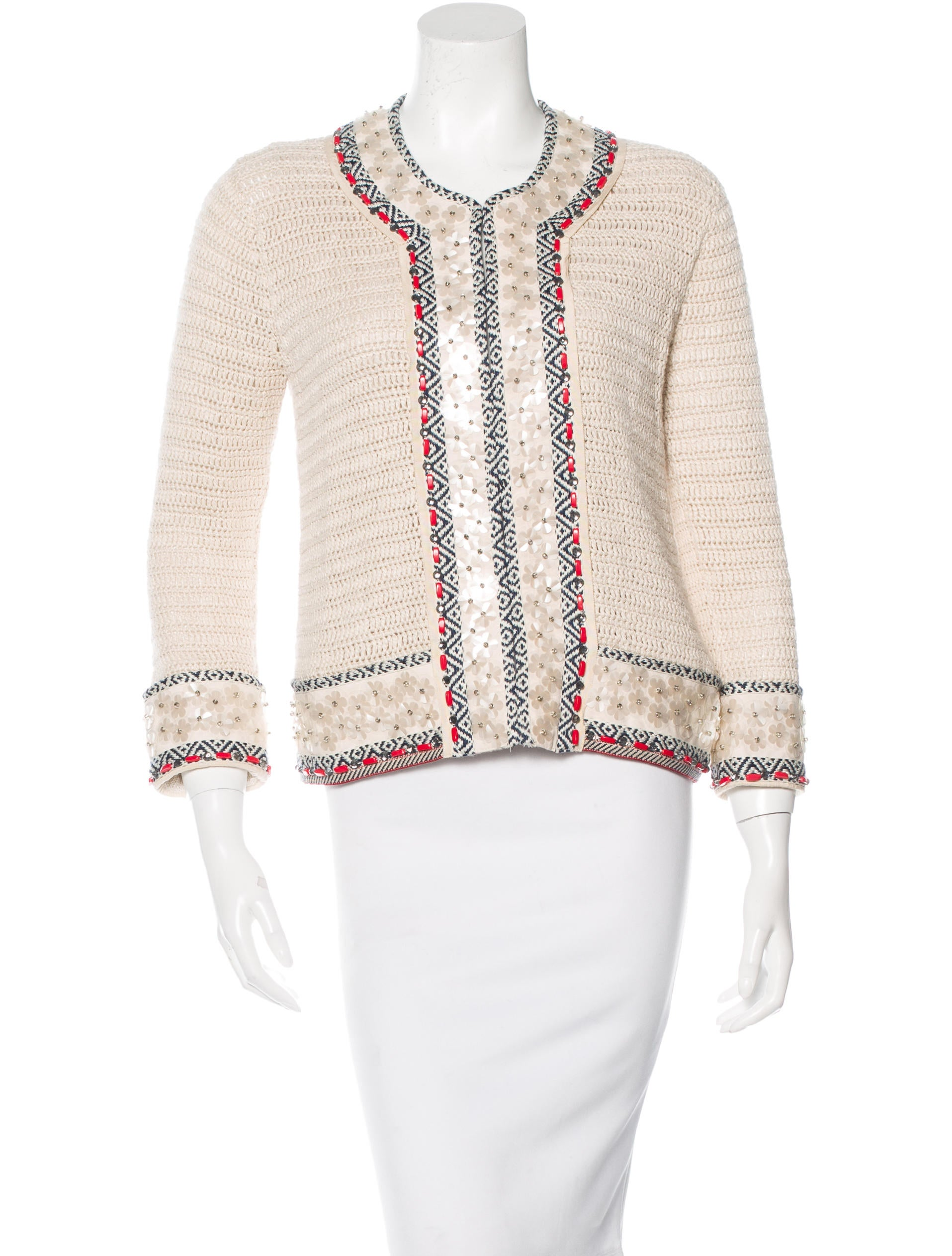Tory Burch Embroidered Linen Jacket - Clothing - WTO77343 | The RealReal