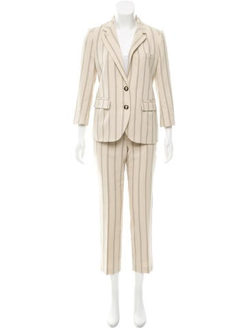 Tory Burch Striped Pantsuit