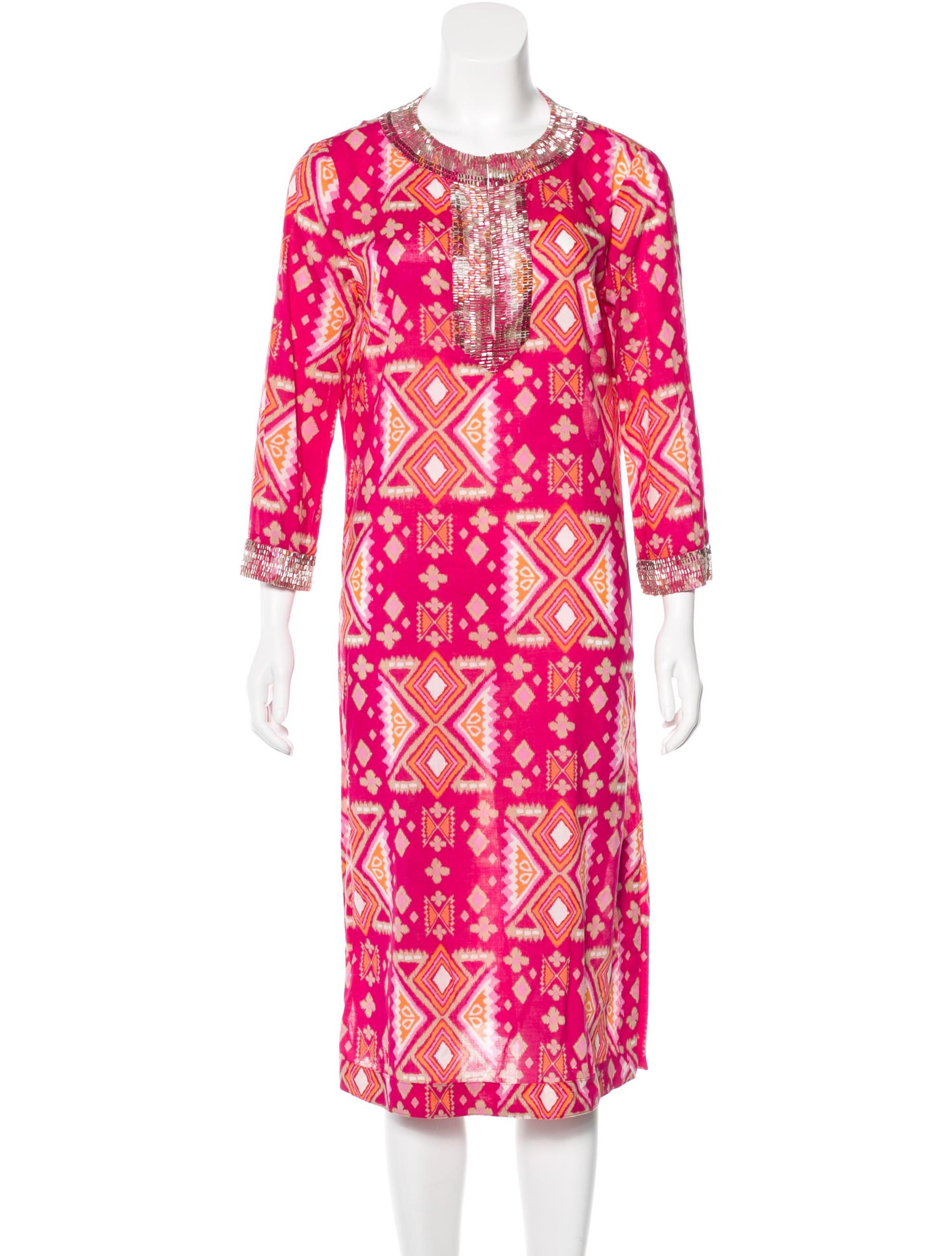 burch bead embellished midi dress clothing