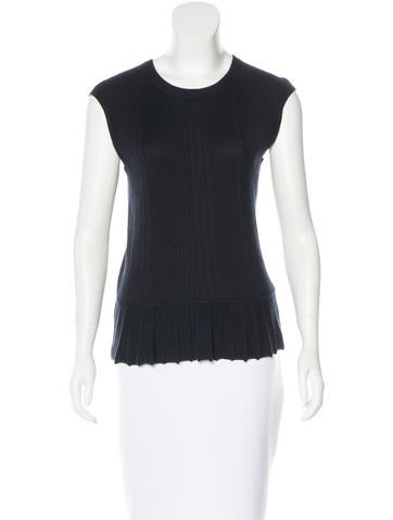 Tory Burch Rib Knit Sleeveless Top None