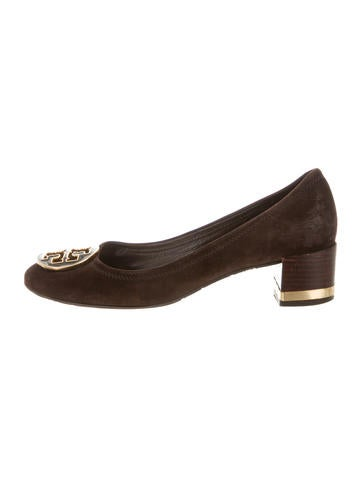 Tory Burch Suede Logo Pumps None