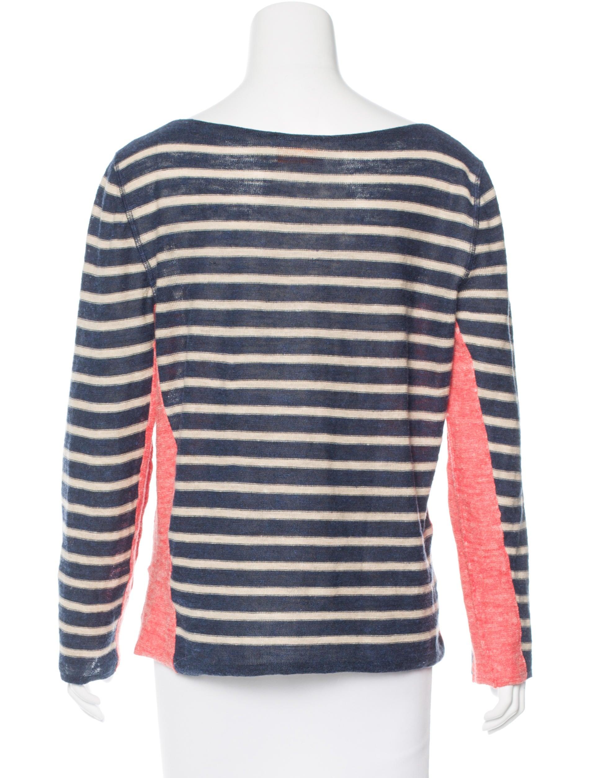 Tory burch striped long sleeve t shirt clothing for Tory burch t shirt