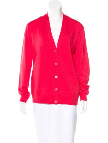 Tory Burch Merino Wool V-Neck Cardigan None