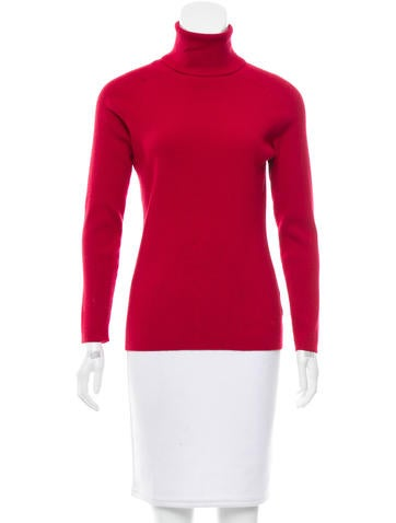 Tory Burch Wool-Blend Turtleneck Top None