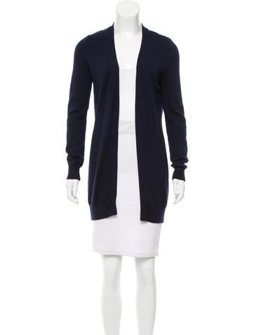 Tory Burch Rib Knit Open Front Cardigan None