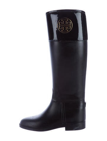 Tory Burch Logo Knee-High Rain Boots None