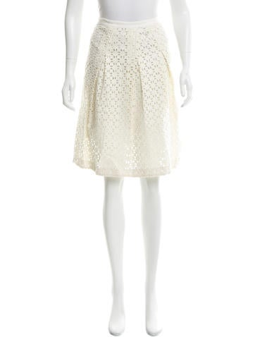Tory Burch Embroidered Knee-length Skirt None