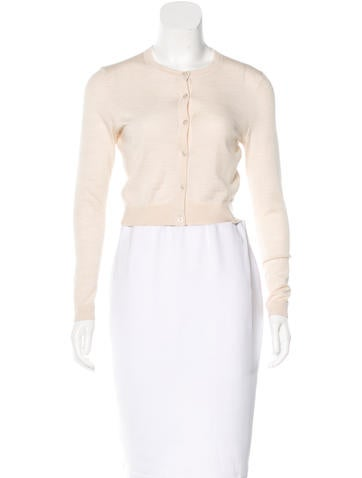 Tory Burch Cropped Button-Up Cardigan None