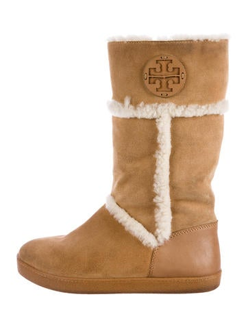 Tory Burch Amelie Shearling Boots None