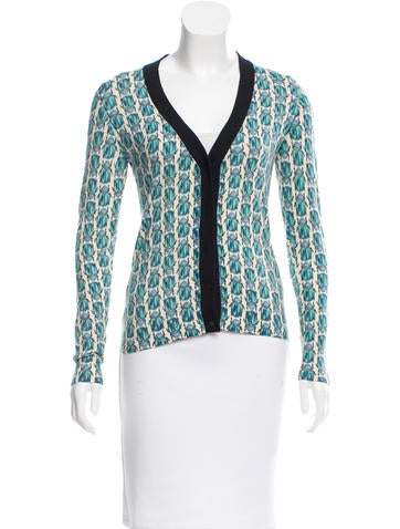 Tory Burch Wool Patterned Cardigan None